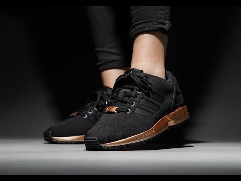 b2c957bff Adidas ZX Flux Black Copper Metallic Gold S78977 - YouTube