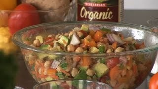 Mexican Chick Pea Salad : Healthy Salads