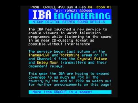 Channel 4 Open University and ORACLE Page Junction (4th February 1990)