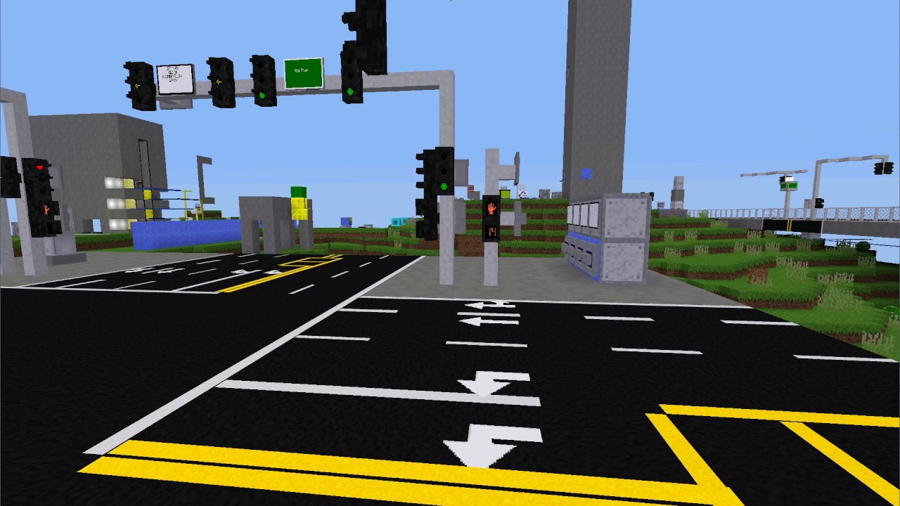 [Minetest] Countdown Pedestrian Signals - YouTube