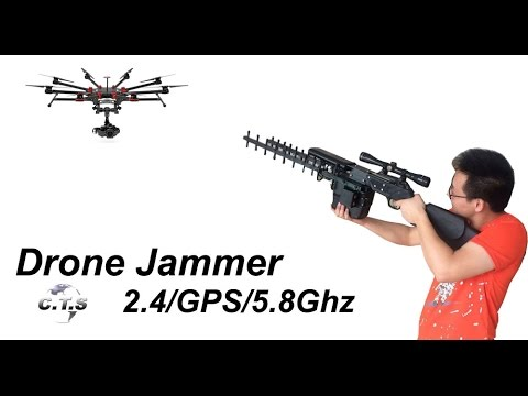 2016 Test drone jammer gun China CTS Drone Disabler Anti drone device