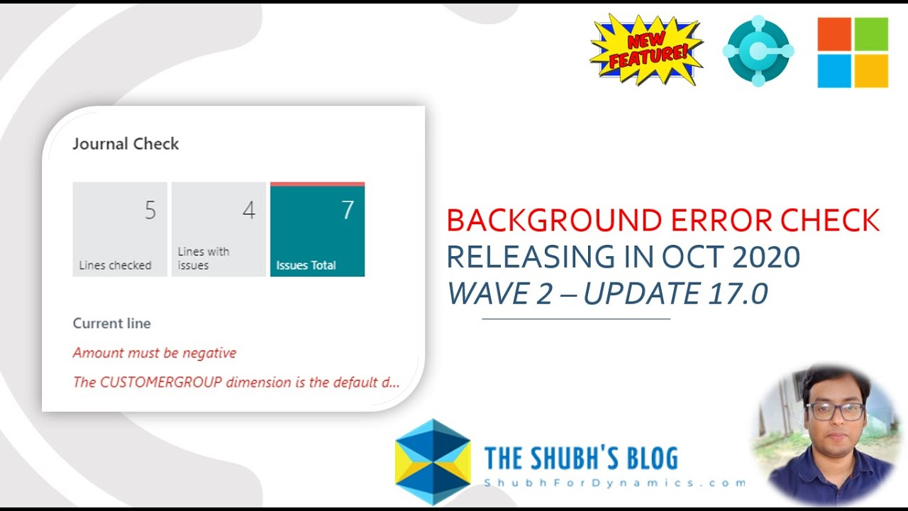 Background Error Check for Journals in Business Central | New Feature | Releasing Oct 2020 | Wave 2