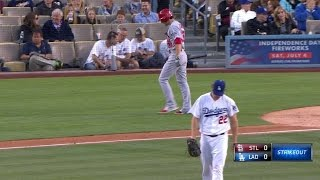 STL@LAD: Kershaw throws a nasty hook to ring up Kozma