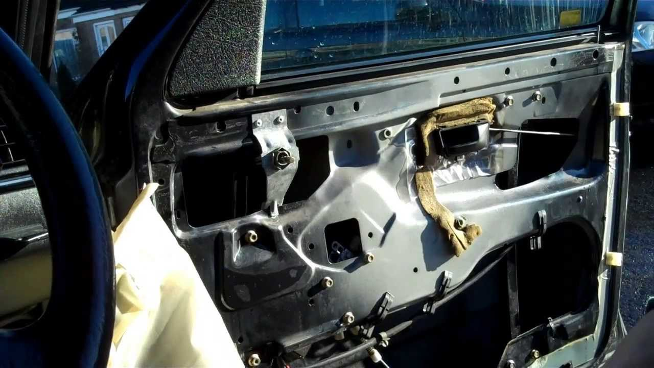 Vw Golf Mk2 How To Remove Door Card Trim Panel Youtube