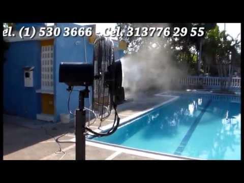 ventiladores con agua pulverizada youtube