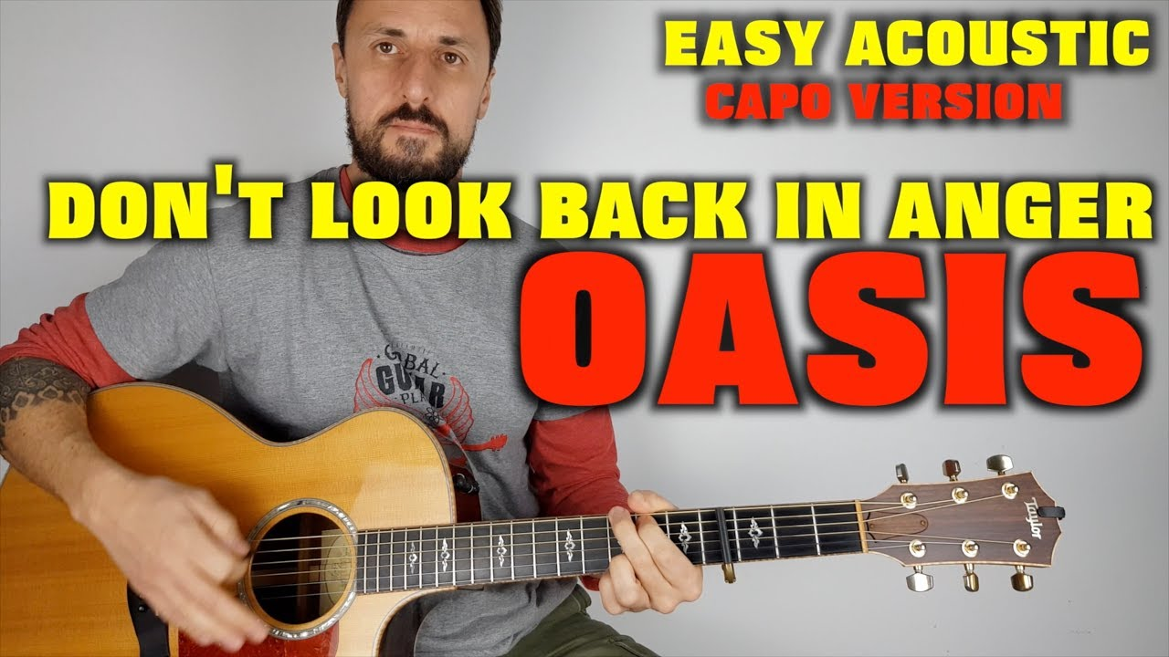 Oasis   Don't Look Back In Anger Easy lesson Capo Version