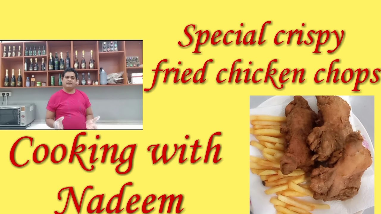 KFC style crispy fried chicken chops || cooking with Nadeem ||