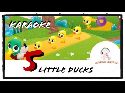 5 Little Duck Song With Lyrics And Music 2018 (Karaoke) - Sing Along Nursery Rhymes