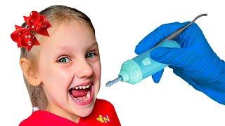 Собрались лечить зубы - история как Ястася и папа не хочет идти к доктору Ya-Nastya