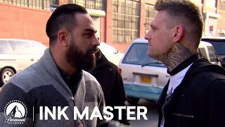 Top 5 Moments from Ink Master, Season 4: Kyle Dunbar vs. Chris Nunez