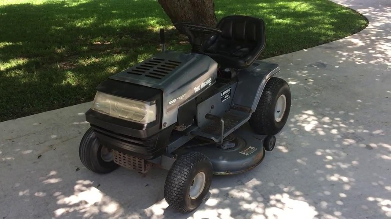 16 Mtd Tractor : Mtd yard machines hp twin inch lawn tractor youtube