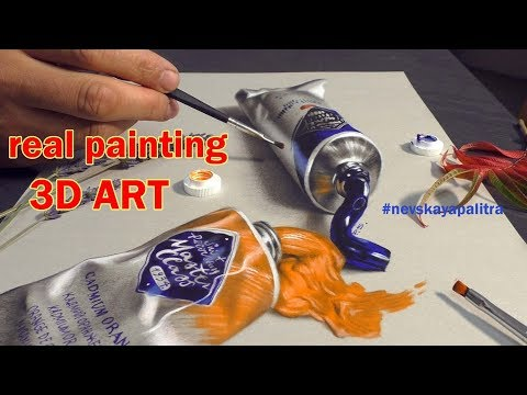 Painting 3D ART oil paints of Master Class St-Petersburg