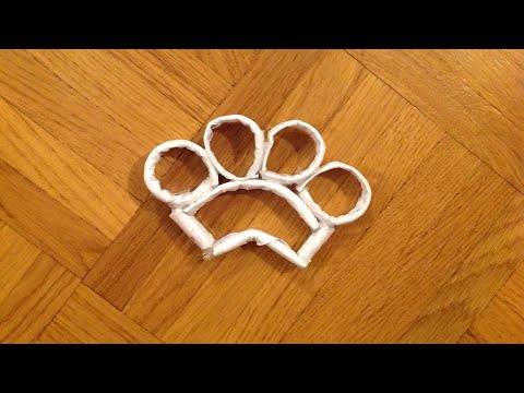 How to make paper brass knuckles