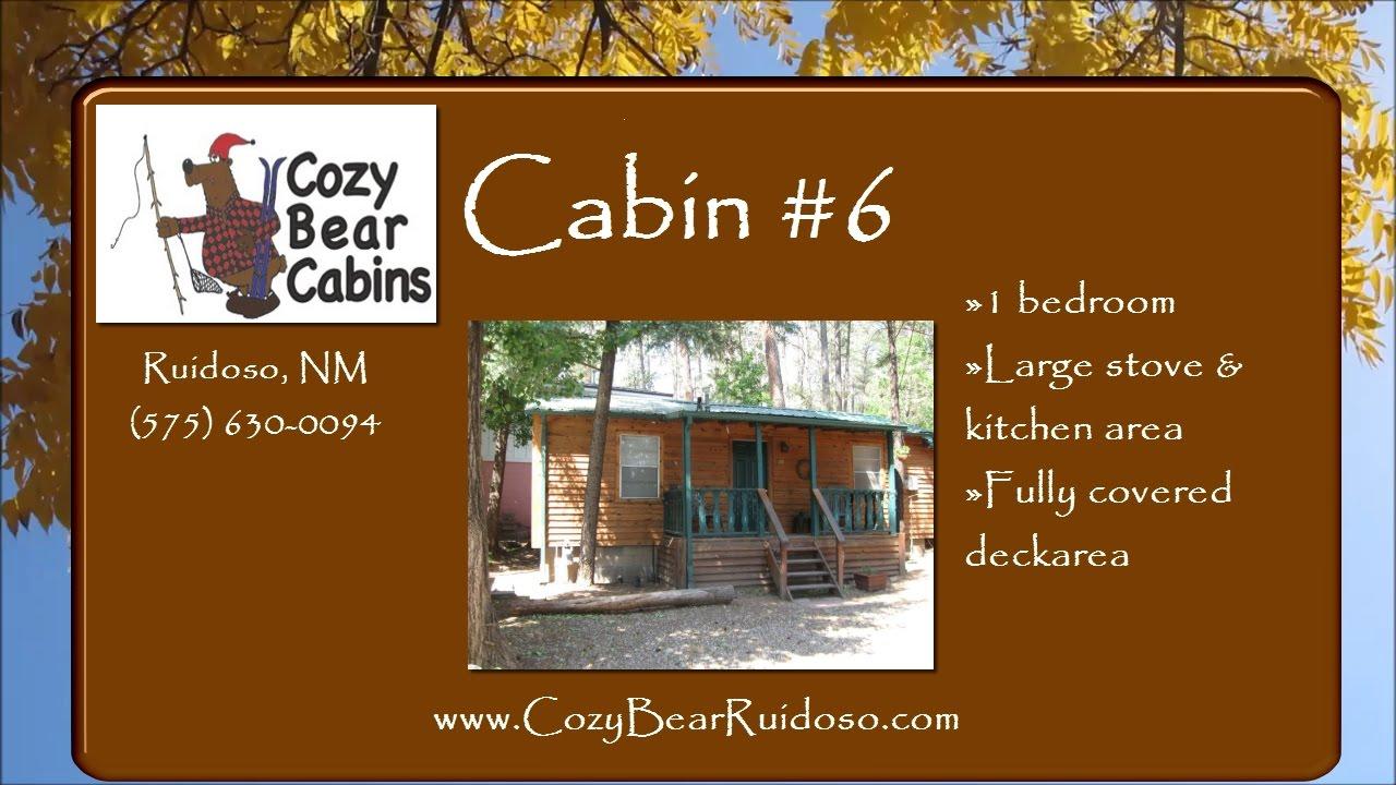 Cabin 6 Cozy Bear Cabin Rentals In Ruidoso