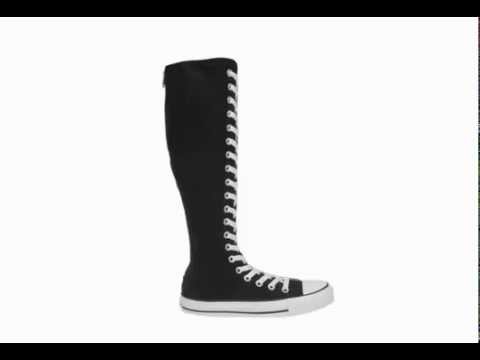 3289dd3a3b5 Womens knee high converse boots - YouTube