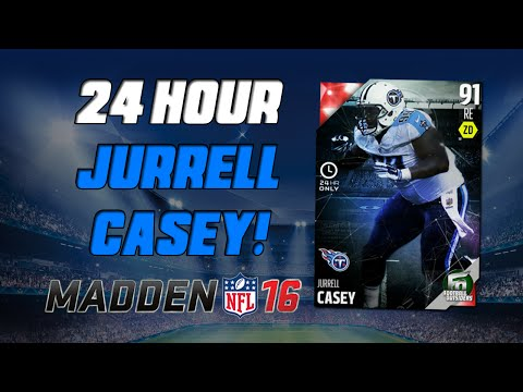 24 Hour Jurrell Casey! | Madden 16 Ultimate Team - Football Outsiders Pack Opening