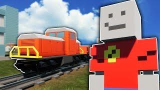 LEGO MINECRAFT BOB VS TRAIN! - Brick Rigs Gameplay - Lego Train Simulator Crashes