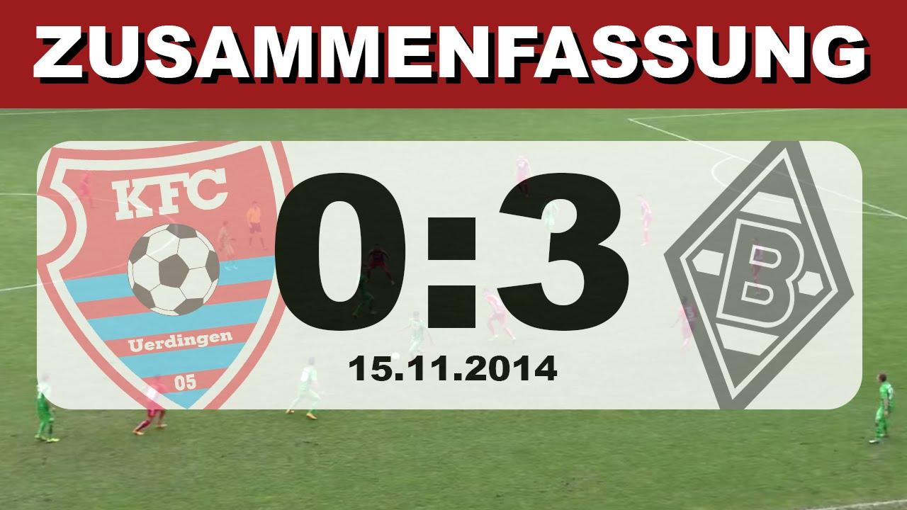 Zusammenfassung: KFC Uerdingen - Borussia Mönchengladbach ...