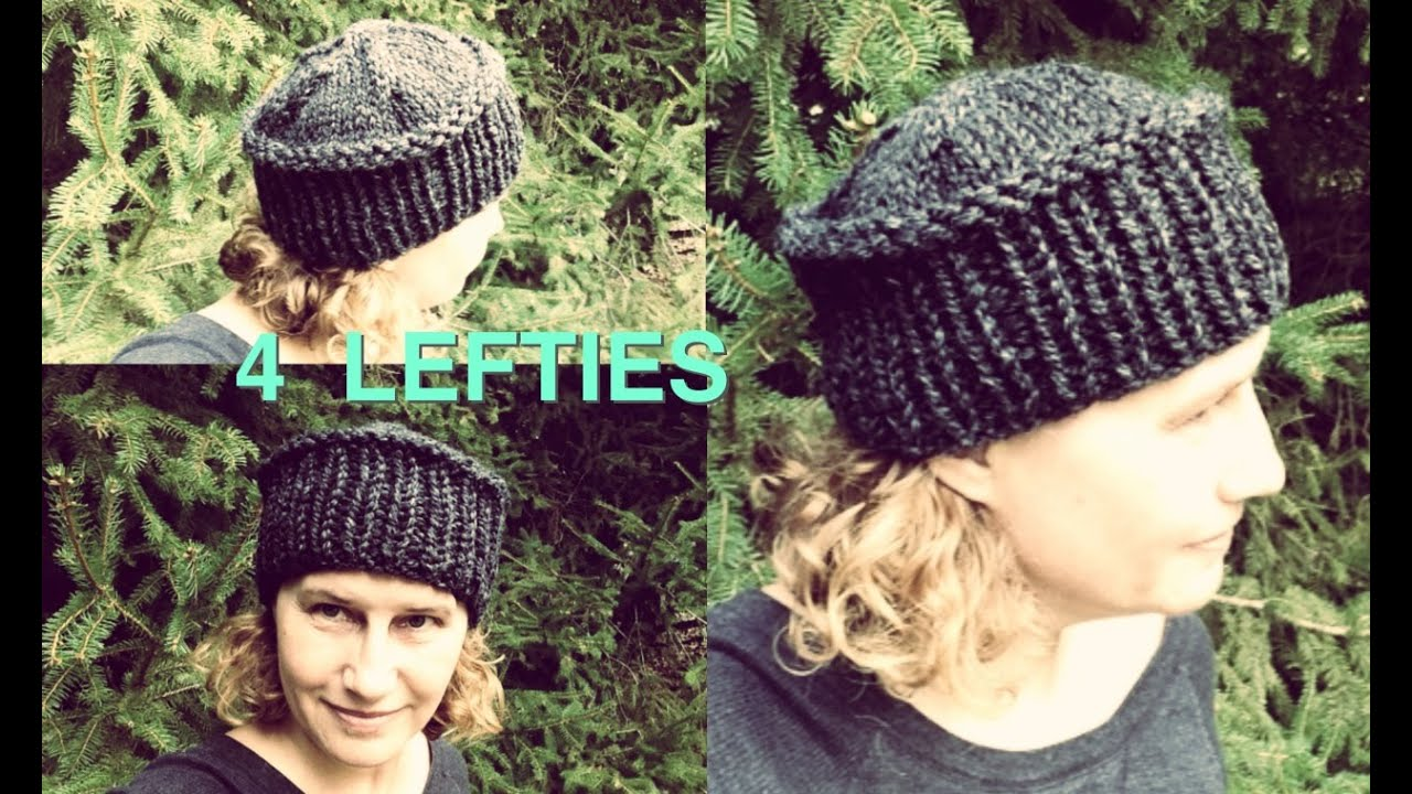 Knitting Pattern Hat Flat : Watch How To Knit Flat Top Hat - Fast Project (4 LEFTIES ...