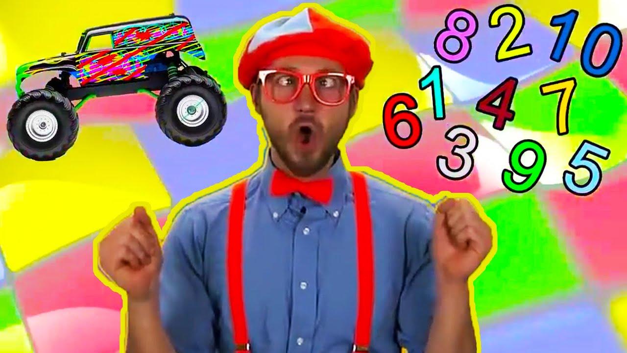 Blippi   Learning to Count Monster Trucks   Educational Videos for Toddlers   Blippi   Vehicles  