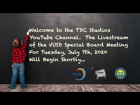 VUSD Special Board Meeting  - July 7, 2020
