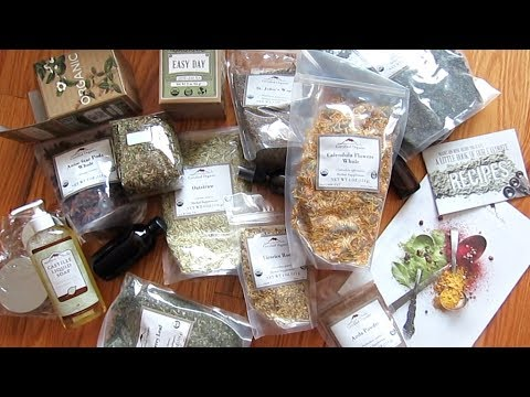 Mountain Rose Herbs Unboxing: Herbs, Spices, Teas, Bottles