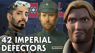 42 Imperial Defectors in Star Wars (Canon)