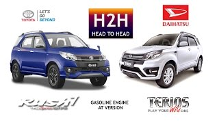 H2H #61 Toyota Rush Ultimo vs Daihatsu Terios Revision Video 1. 0