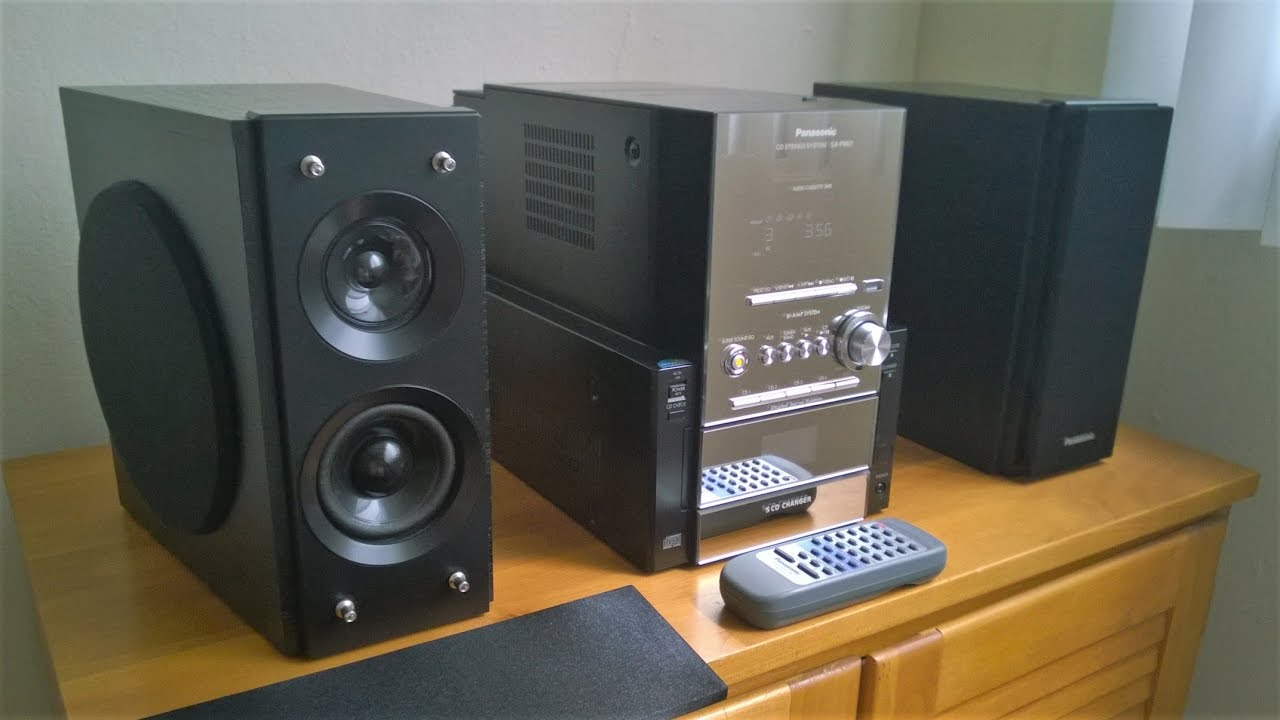 Panasonic SC PM27 Shelf System With Subwoofers SA Mini Stereo