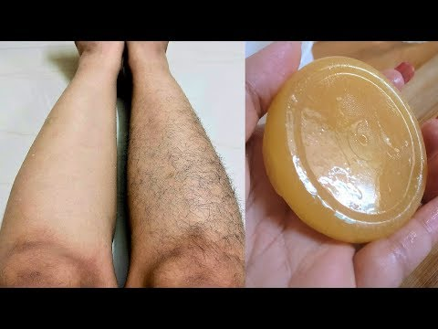Homemade Hair Removal Soap / Remove Body Hair At Home in 10 Minutes