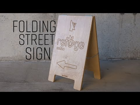 How To Make A Folding Street Sign | Easel Pro