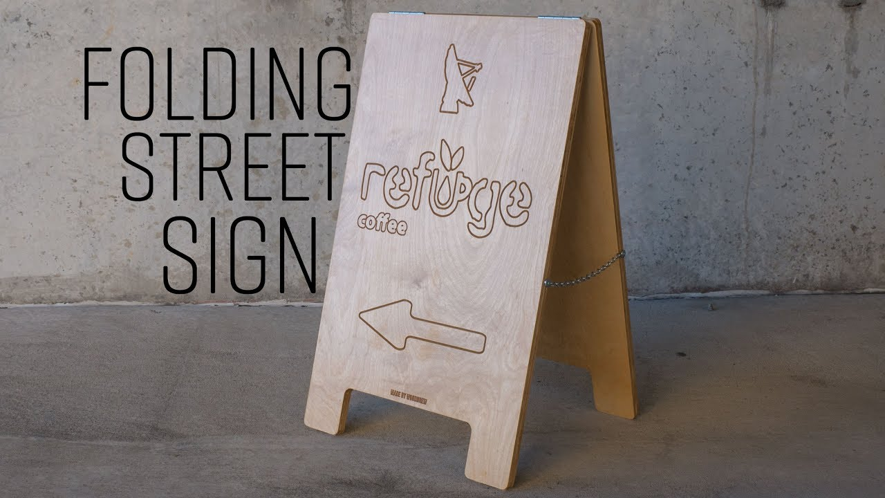 how to make a folding street sign easel pro youtube