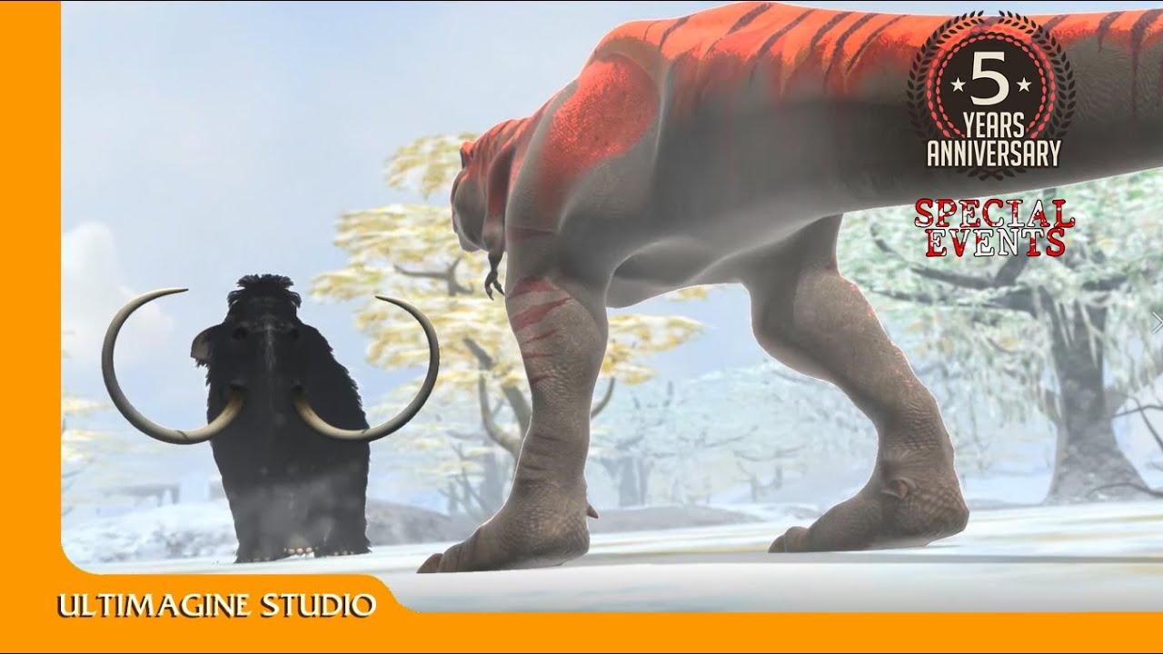 Mammoth VS T rex : Dinosaurs Battle Special