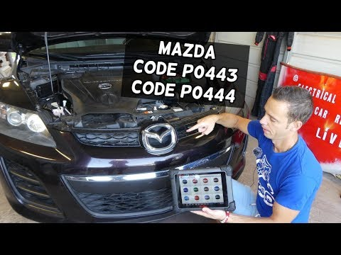 HOW TO FIX CODE P0443 P0444 MAZDA 2 3 5 6 CX-3 CX-5 CX-7 CX-9 MIATA