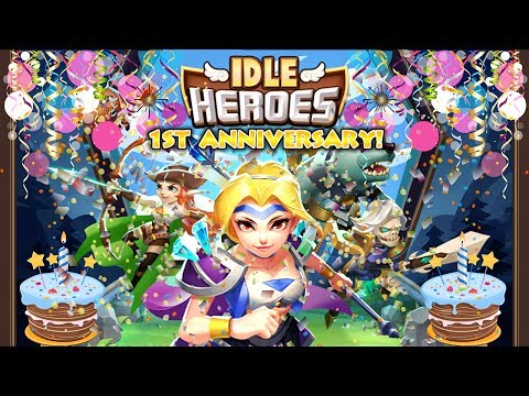 Idle Heroes - 1st Anniversary Event Madness! - YouTube