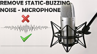how to remove background static buzzing noise when recording realtak hd audio manager tutorial 2017