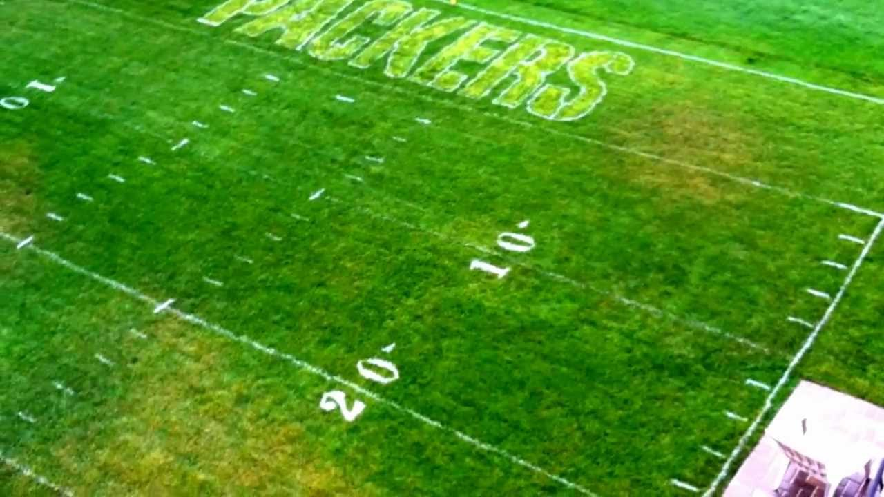 Soccer Field In My Backyard : Backyard Football Field Paint Lambeau field in my backyard  youtube