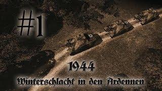 Let´s Play 1944 - Winterschlacht in den Ardennen #1 Der Panther geht jagen HD Bayrisch