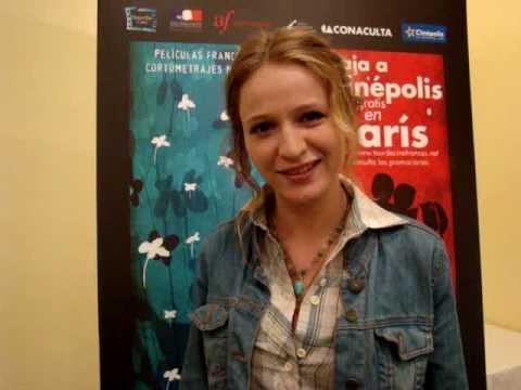 Christa Theret en México para el 13° Tour de Cine Francés en México