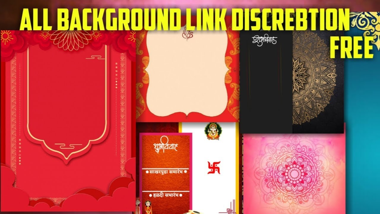 New Style Wedding Invitation Card Background Full Hd File Download 2019 Invitation Card Editing