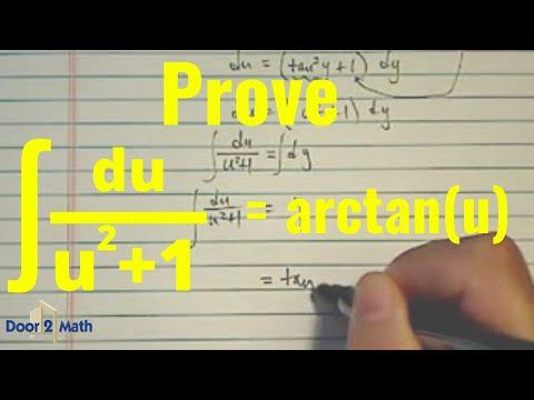 *Integral (antiderivative) of: du/(1+u^2) - YouTube