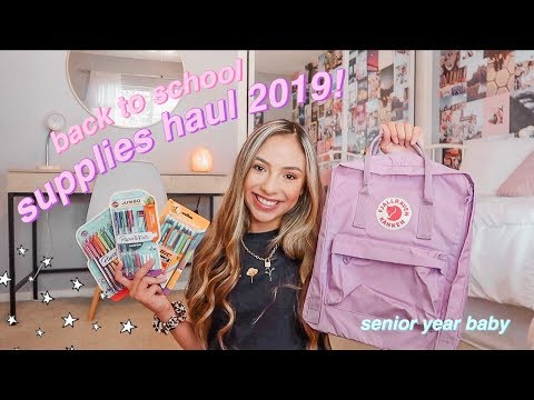 BACK TO SCHOOL SUPPLIES HAUL 2019! what's in my backpack as a senior