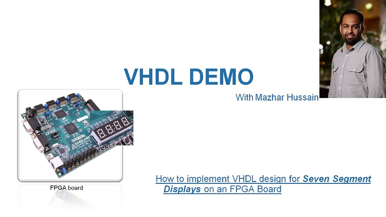How To Implement Vhdl Design For Seven Segment Displays On An Fpga Electronic Circuit Schematics Other 7segment Display Counter Youtube