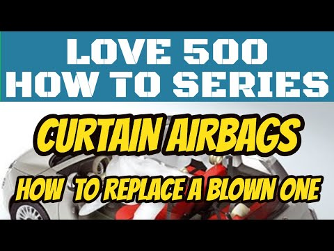 Changing a Curtain Airbag on a Fiat 500
