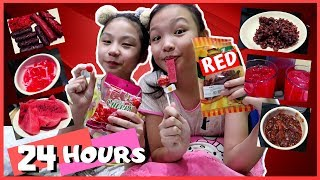 Eating RED food Only for a day Challenge!!   Nakakasawa Pula!   Aurea & Alexa