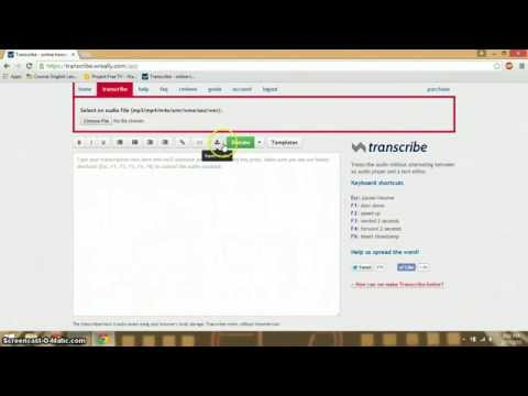 How to use Transcribe