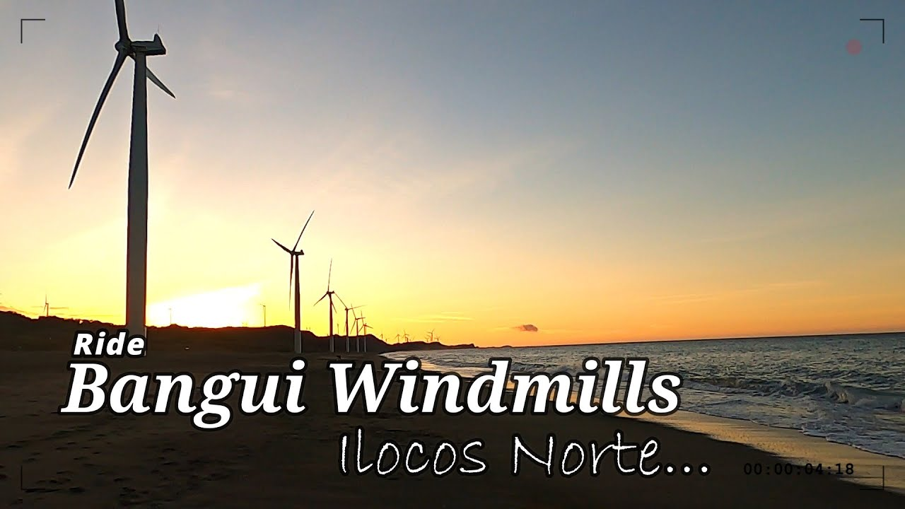 Bangui Windmills Bike Ride with music | Ilocos Norte Philippines
