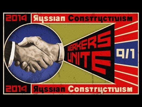 Photoshop Tutorial: How to Make a Vintage, Russian Constructivist Poster