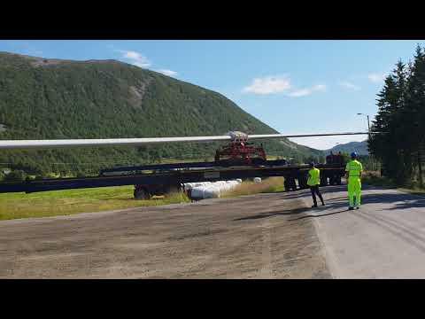 Transport av vindmølleblad