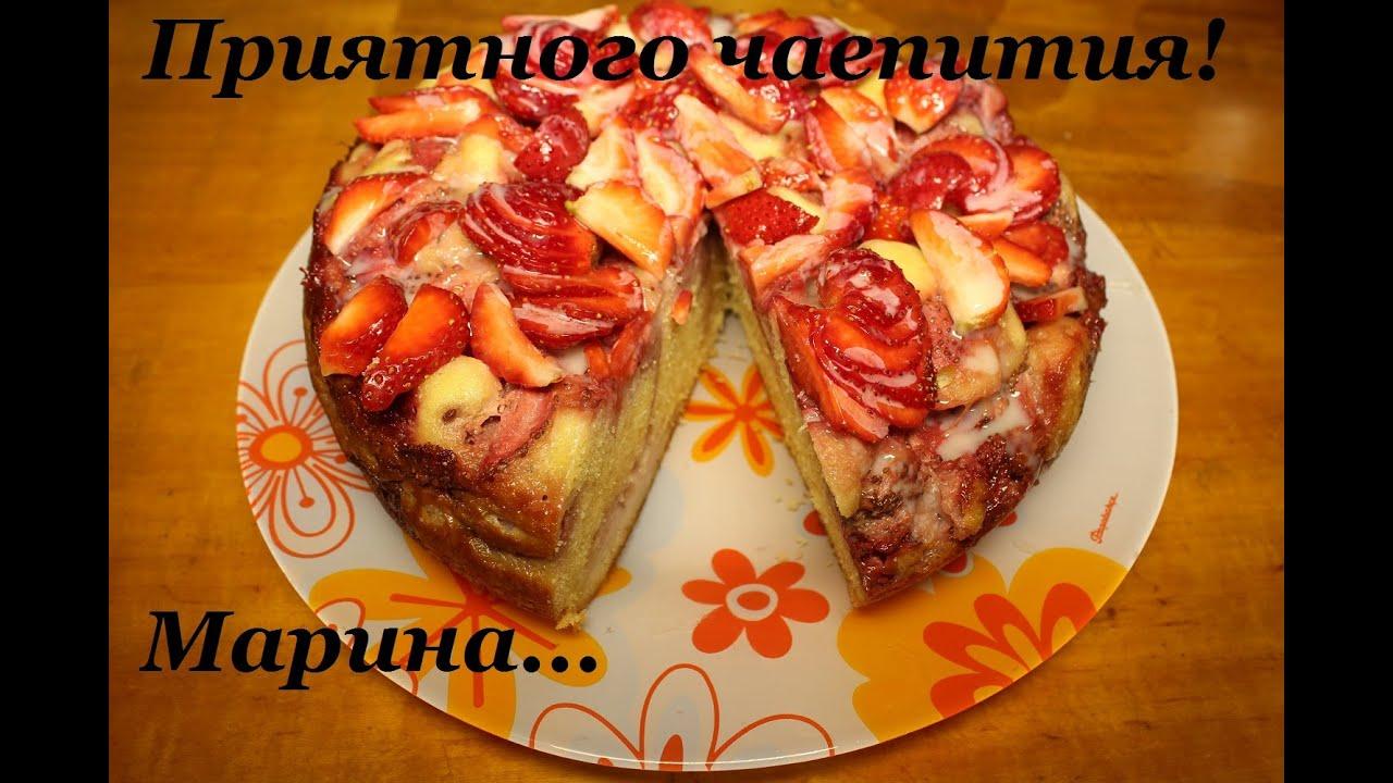 Шарлотка с клубничным вареньем рецепт пошагово в духовке 133